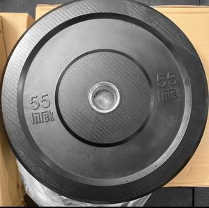 Intek Commercial 55 lb Pair Rubber Bumper Plates - Brand New for Sale in Queens, NY