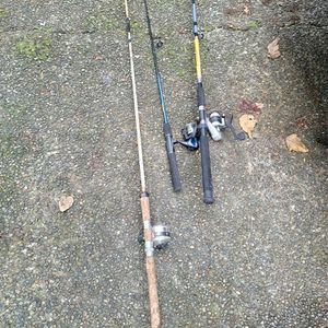 Fishing Poles And Reels All For $35 for Sale in Covington, WA