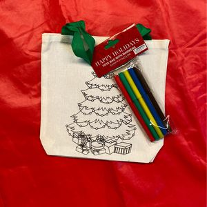 Tote W/ Felt Markers Christmas Activity For Kids for Sale in Santa Rosa, CA