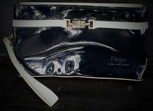 Beijo patent leather black/white wristlet for Sale in Austin, TX
