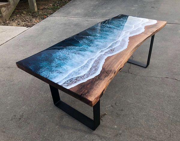 Epoxy Resin Ocean Table