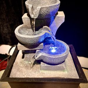 Table water fountain w led light H10xW8xD6 inch Lbs 2.2 for Sale in Chandler, AZ