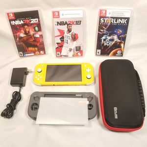 Nintendo Switch Lite + Charger + Case + Gray Silicone Skin + Screen Protector + 3 Games Everything in pictures $190 for Sale in Elk Grove, CA