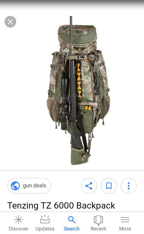 Remington camouflage hunting backpack w Gun Sling for Rifle Shotgun See pics