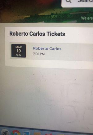 2 Roberto Carlos tickets for Sale in Orlando, FL