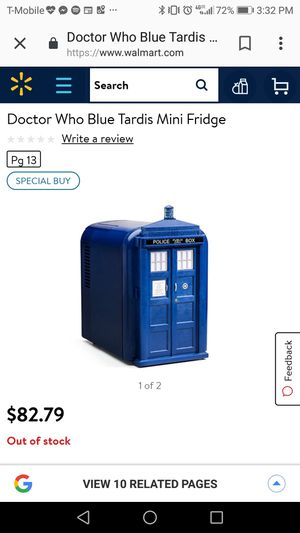 Doctor Who Blue Tardis Mini Fridge for Sale in Knoxville, TN