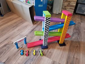 Wooden Car Track Toy for Sale in Rockmart, GA