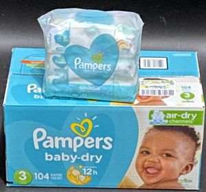 PAMPERS DIAPERS & WIPES for Sale in Clarksville, TN