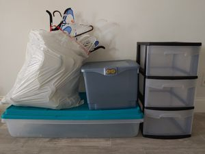 Misc. Storage Containers and Hangers for Sale in Fort Lauderdale, FL
