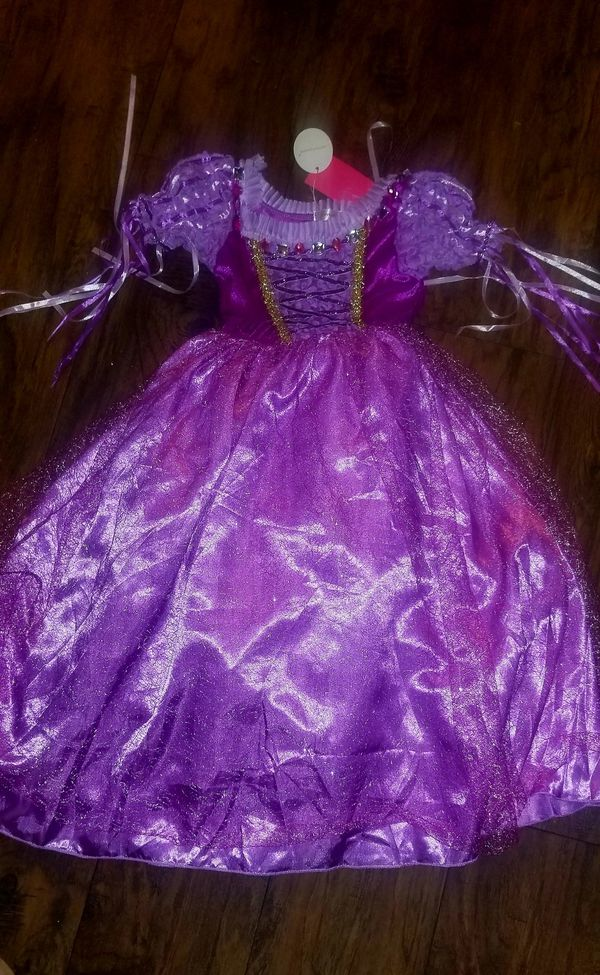 Princess rapunzel Halloween costume party dress girls .. vestido de niña