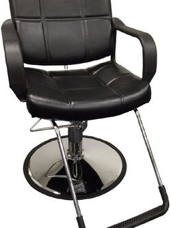 Black Wide Classic Tufted Hydraulic Styling/Barber Chair for Sale in Duluth,  GA