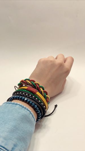 Braided Multi-layer Leather Bracelet (Set of 4) for Sale in Los Angeles, CA