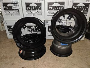 New DWT blue labels drag cut Yamaha wheels for sale for Sale in Beavercreek, OR
