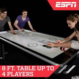 ESPN 8 ft. Silver Streak Air Powered Hockey Table, Includes 4 pushers for Sale in Austin, TX