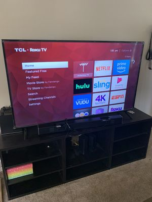 "65"" TCL 4K Rokue Smart TV and vizio sound bar and sub for Sale in Oxnard, CA"