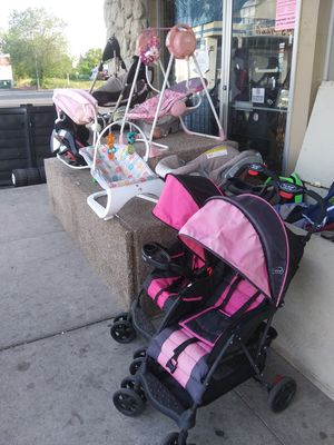 Strollers car seats and more. A lot to choose from for Sale in Spokane, WA
