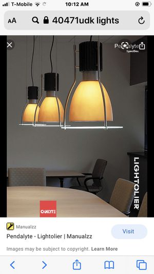 Pendalyte-Lightolier |manualzz for Sale in Brentwood, TN