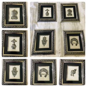 Traditional art frames from Tunisia (silver on white and black) for Sale in Washington, DC