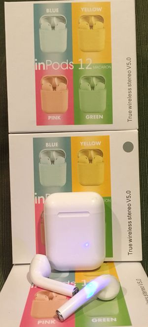 Bluetooth headset/earbuds/headphones/model i12/new items/many colors for Sale in Perris, CA