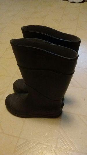 Men's rubber rain boots size 7 men size 8 woman for Sale in Spokane, WA