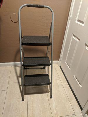 Cosco 3-Step Big Step Folding Stool, 200lb, 17 3/4w x 28d x 45 5/8h, Platinum for Sale in El Mirage, AZ