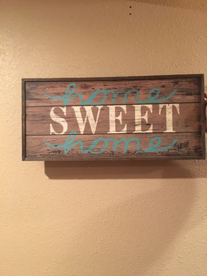 Home Sweet Home Wood Sign for Sale in Warren Air Force Base, WY