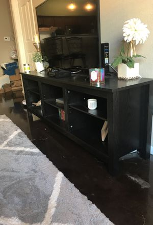 Black wood TV stand for Sale in Tampa, FL