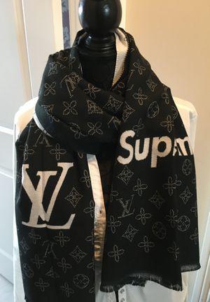New authentic Louis Vuitton monogram black cashmere scarf for Sale in Montvale, NJ