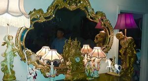 Antique Golden Mirror & table only for Sale in Brisbane, CA