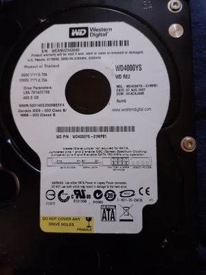 Western Digital 400gb Hard Drive for Sale in Tamarac, FL