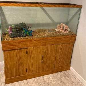 55 Gallon Fish Tank With Stand for Sale in Kent, WA