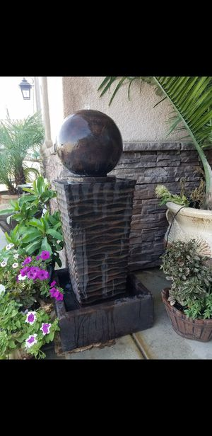 Beautiful modern zen style water fountain for patio/garden. Please check out my other offers 👉 for Sale in Riverside, CA