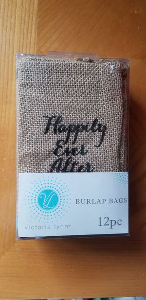 Happily ever after burlap wedding or engagement bags for Sale in Battle Ground, WA