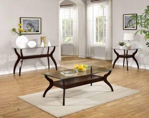 modern glass and wood coffee table BRAND NEW!! for Sale in Dallas, TX
