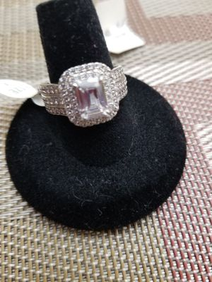 Rings autentic Sterling silver Simulated Diamond size 8 for Sale in Nashville, TN