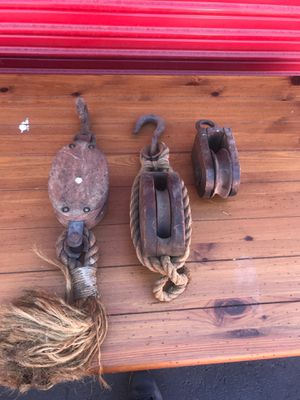 Antique wood pulleys for Sale in Benicia, CA