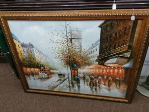 Large Oil Street Painting for Sale in Sunbury, OH