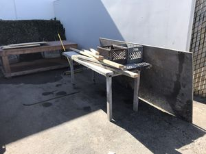 Free plywood and bench 17413 newhope fountain valley for Sale in Costa Mesa, CA
