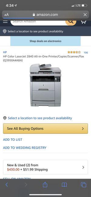 HP Color LaserJet 2840 All-in-One Printer/Copier/Scanner/Fax for Sale in Grayson, GA