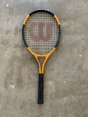 Wilson Tennis Racket - Orange/Black - Like New for Sale in Sunnyvale, CA