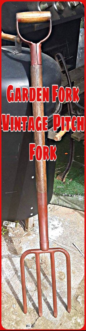 Rustic primitive farmhouse garden pitchfork for Sale in Newark, OH