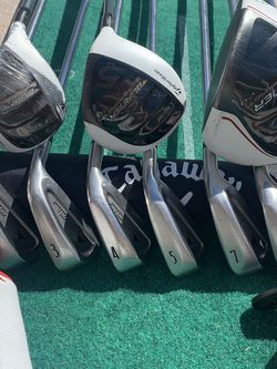 TaylorMade/ Titleist Hybrid, Woods, Irons Complete Golf Club set for Sale in Port Charlotte,  FL
