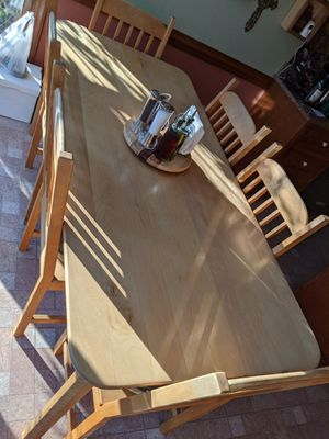 Handmade solid Maple and birch kitchen table and 6 chairs for Sale in Raleigh, NC