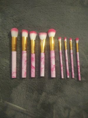9pc pink marble makeup brushes for Sale in Stanton, CA