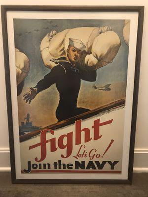 Framed Vintage Military Posters for Sale in Alexandria, VA