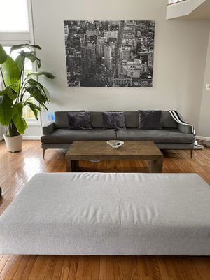 West Elm Couch (Dark Grey) for Sale in Rockville, MD