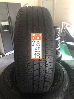 275-65-18 set 4 tires Goodyear Wrangler fortitud 80% life or more fresh late 2016 ready to mount. for Sale in Gibsonton, FL