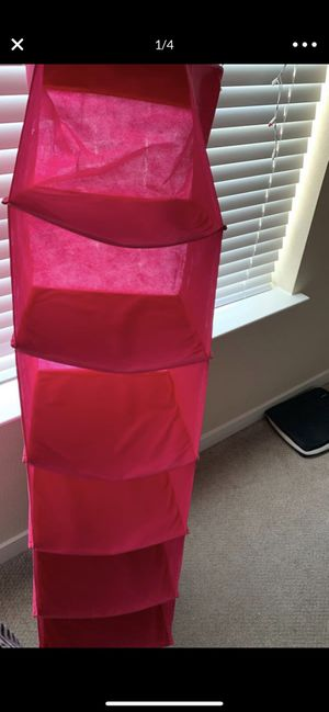 Closet organizer plus laundry pink bag 2 for $8 for Sale in San Jose, CA