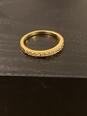 18K Gold plated Engagement Trendy Ring for Sale in Dallas, TX