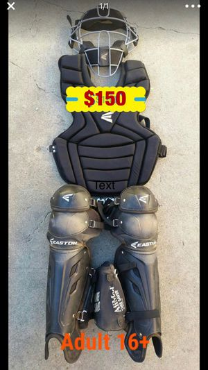 Baseball catcher gear easton quality catcher set gloves bats for Sale in Culver City, CA